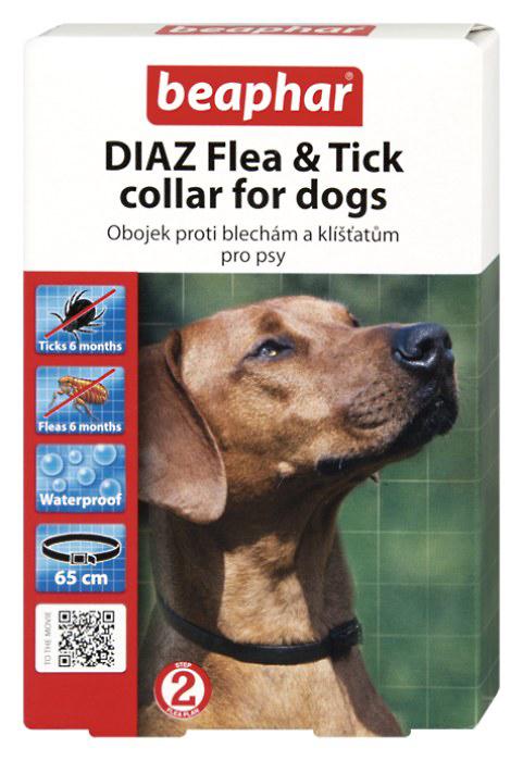 Beaphar Antiparazitní obojek pro psy DIAZ 65 cm