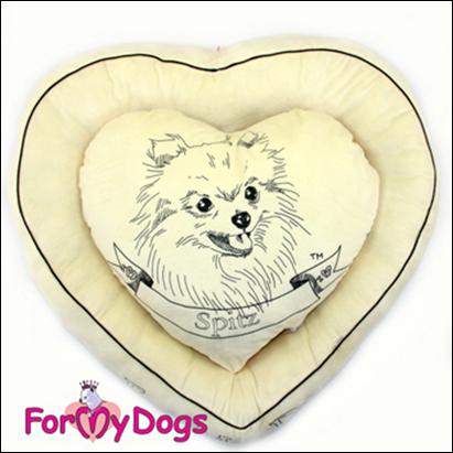 For My Dogs Pelech srdce, béžový Barva: sv. modrá