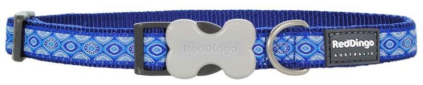 RED DINGO obojek Snake Eyes Blue 41-63 cm