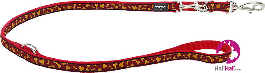 RED DINGO vodítko přepínací Bonarama Orange 1,8 m