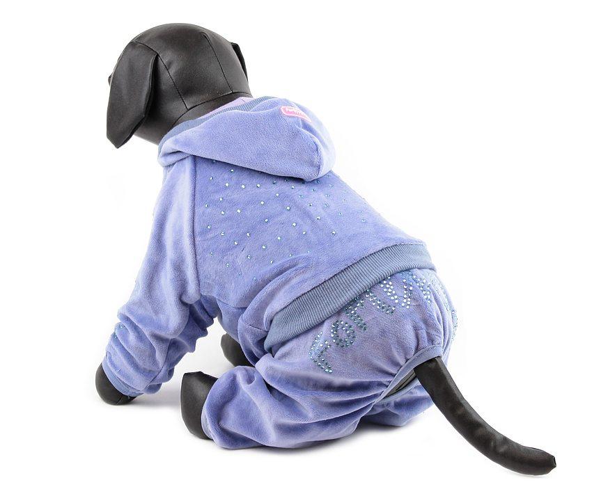 For My Dogs Overal s kamínky Swarovski Modrý 12/S