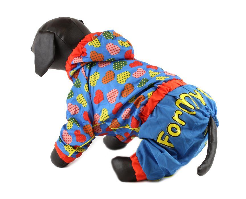 For My Dogs Pláštěnka pro fenky Modrá Velikost: 12/S