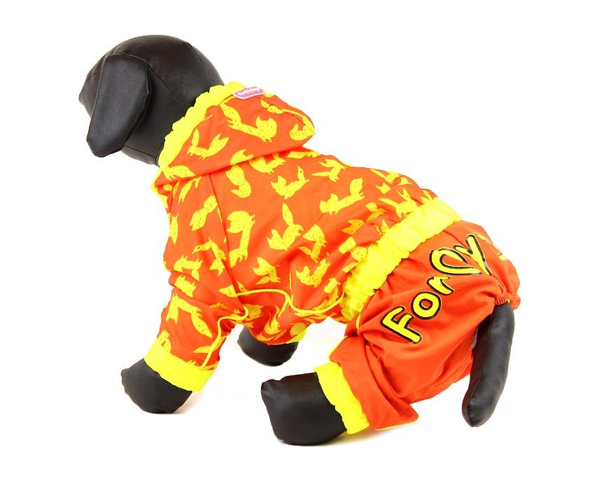For My Dogs Pláštěnka pro fenky Oranžová Velikost: 12/S