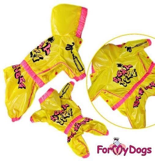 For My Dogs Pláštěnka Žlutá Velikost: 14/M pes