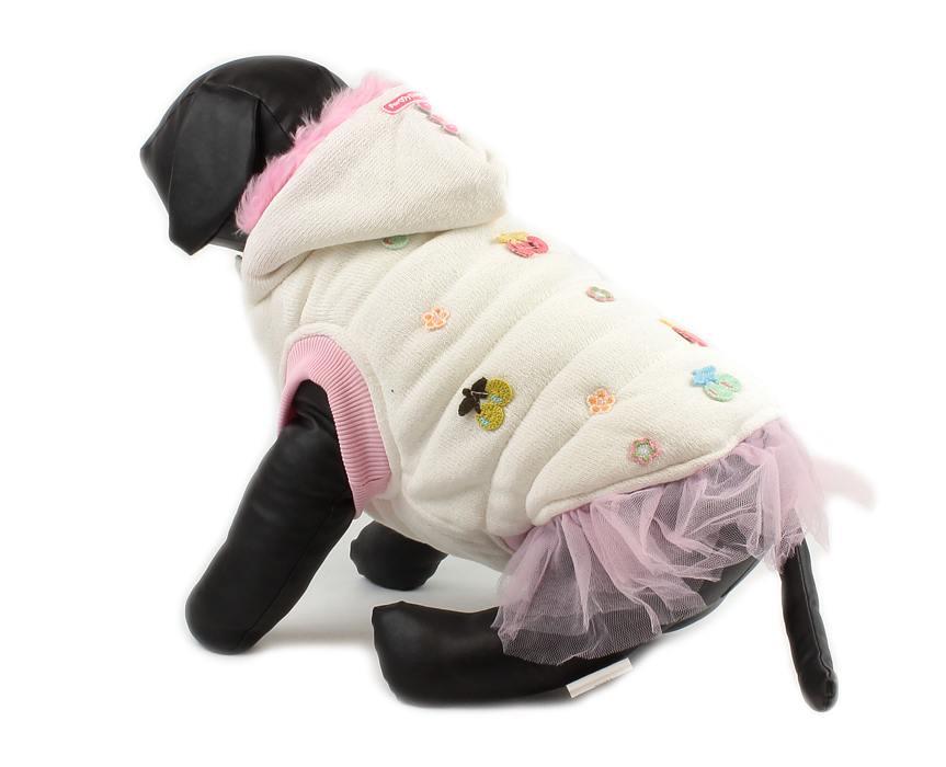 For My Dogs Zimní kabátek Bílý Velikost: 14/M