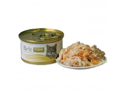 Konzerva BRIT Care Cat Chicken Breast & Cheese 80g