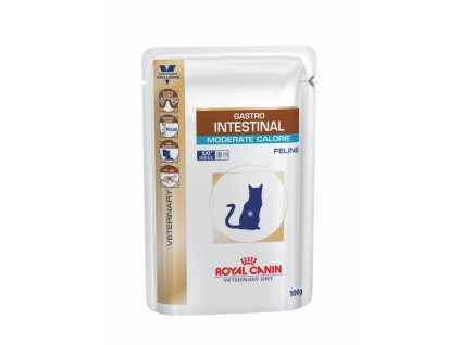 Veterinary Diet Cat Gastrointestinal Moderate Calorie Pouch 12x