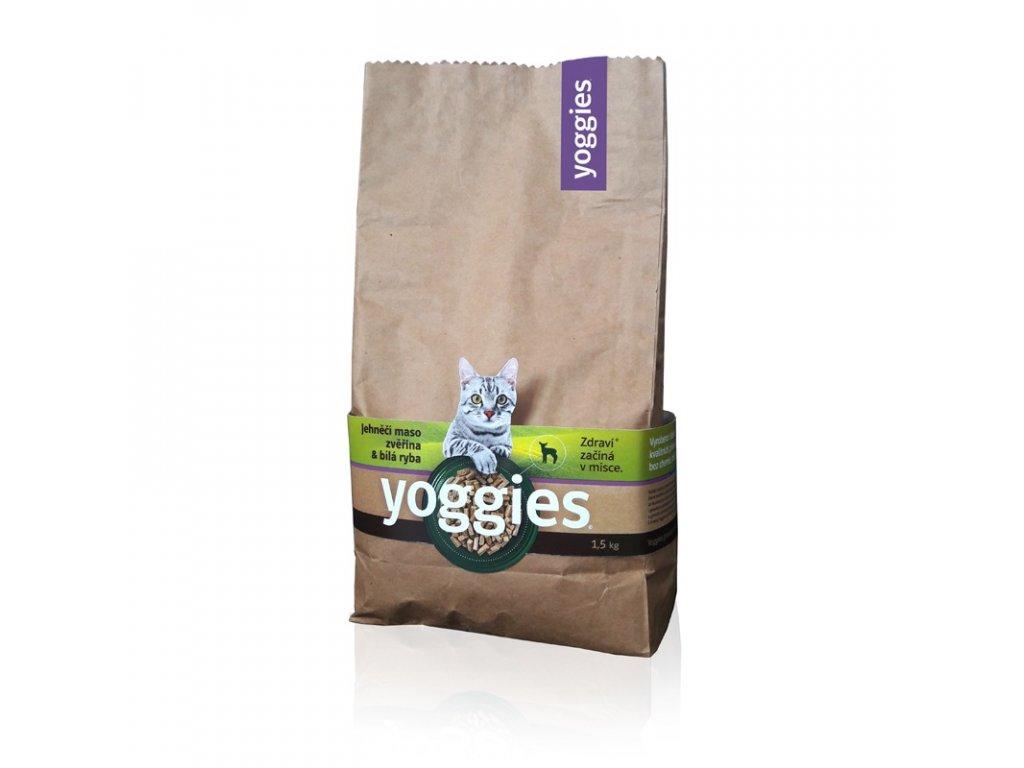 1 5kg yoggies cat basic granule lisovane za studena pro kocky