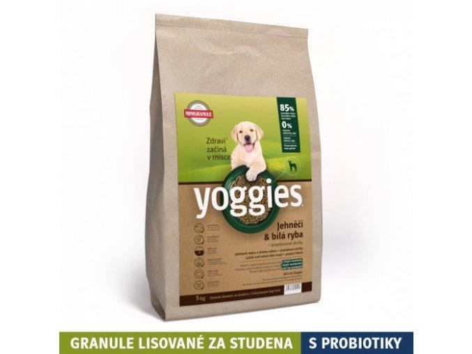 5kg minigranule yoggies jehneci a bila ryba granule lisovane za studena s probiotiky