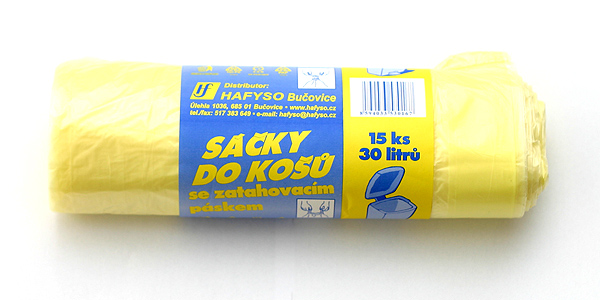 HDPE sáčky do košů - zatahovací pásek