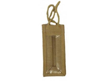 jutova taska s pruhledem