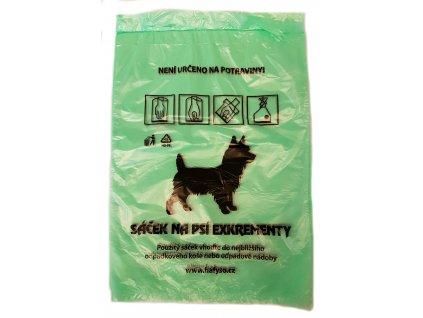 Sáčky na psí exkrementy 20x28 cm/12my, 50ks - zelené