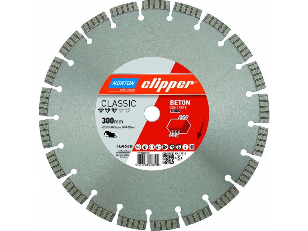 Produktbild Norton Clipper Diamantscheibe Classic Beton Turbo HAN 70184694465 EAN 5450248687993 ID 25424