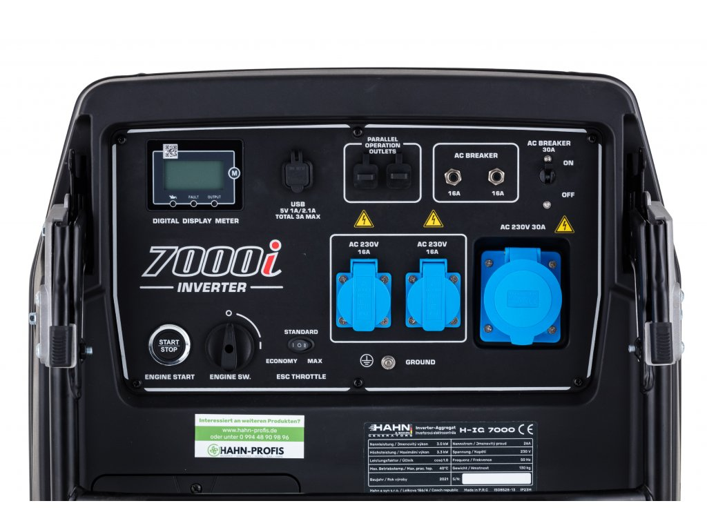 Hahn&Sohn Inverter Generato IG-7000 -7 KW