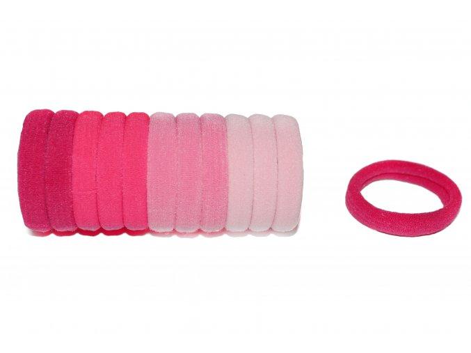 gumičky růžové, 12 ks
