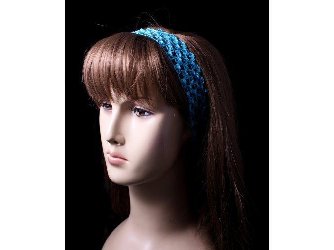 Elastická čelenka síťovaná - úzká, pestré barvy