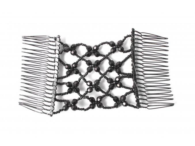 Hřebínky s korálkami na gumičce