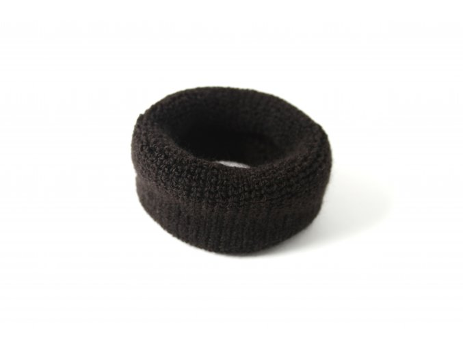 Velká černá froté gumička