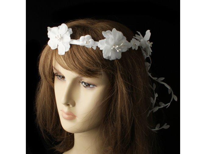 Čelenka - věneček do vlasů s květy