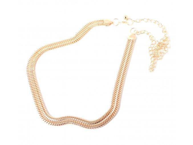 Kovový pásek na šaty ve zlaté barvě