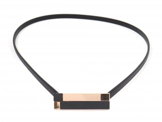 Pružný černý pásek na šaty