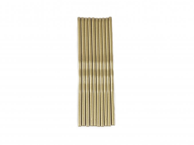 Sponky-pérka zlaté nebo stříbrné, 10 ks