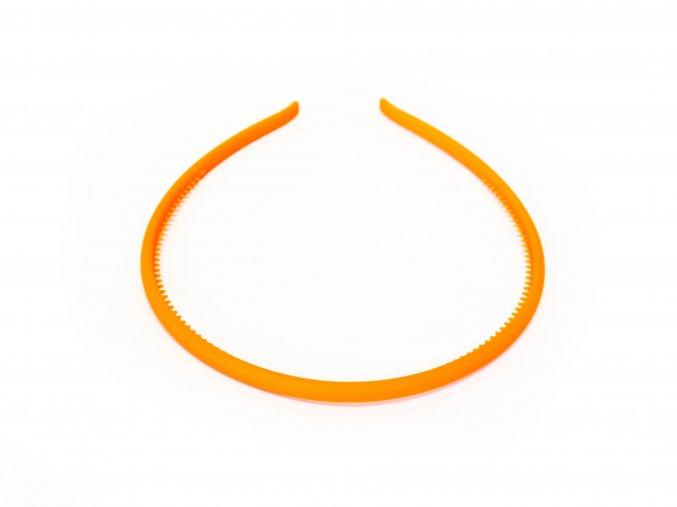 Čelenka oranžová kaučuková