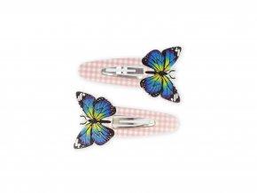 Sponky do vlasů s motýlem, 2 ks
