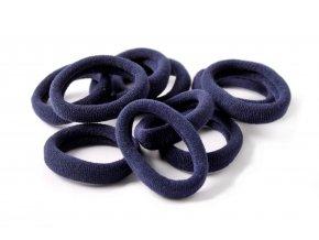 Gumičky do vlasů tmavě modré, 10 ks