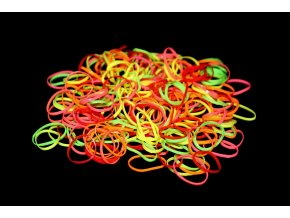 Silikonové gumičky - fosforové barvy