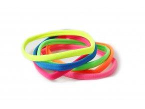 Dlouhá gumička - čelenka, fosforové barvy