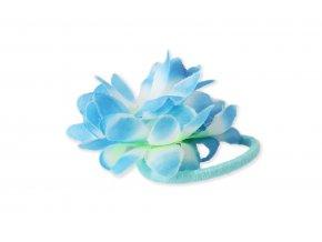 Gumička do vlasů s květem