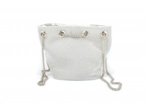 Kabelka ze stříbrných perliček