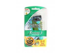 Pánský holící strojek Wilkinson X treme, 3 + 1 zdarma