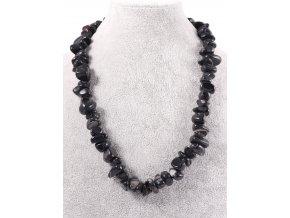 Černý náhrdelník s kameny