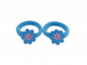 Dětské gumičky do vlasů s kytičkou, 2 ks