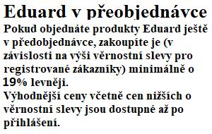 Eduard v předobjednávce