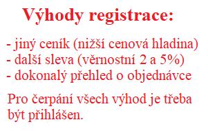 Výhody registrovaných