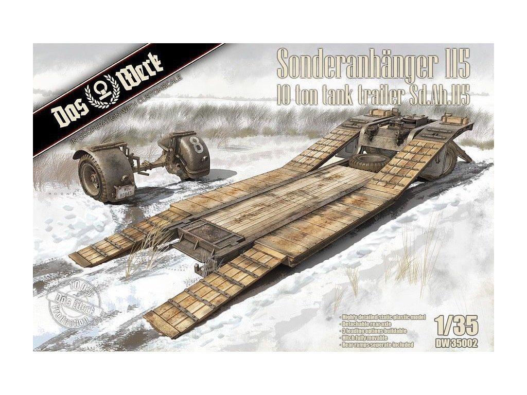1/35 Sonderanhaenger 115 10 Ton Tank Trailer Sd.Anh. 115 Trailer