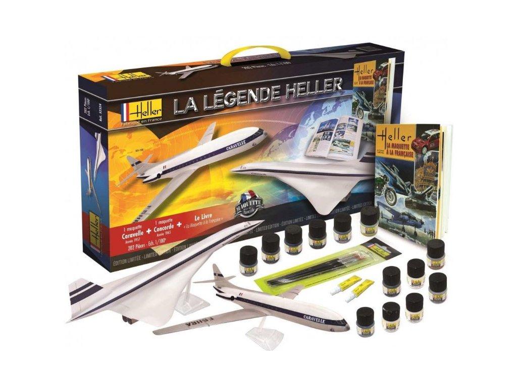 52324 La Légende Heller The prototype Concorde + Caravelle + book