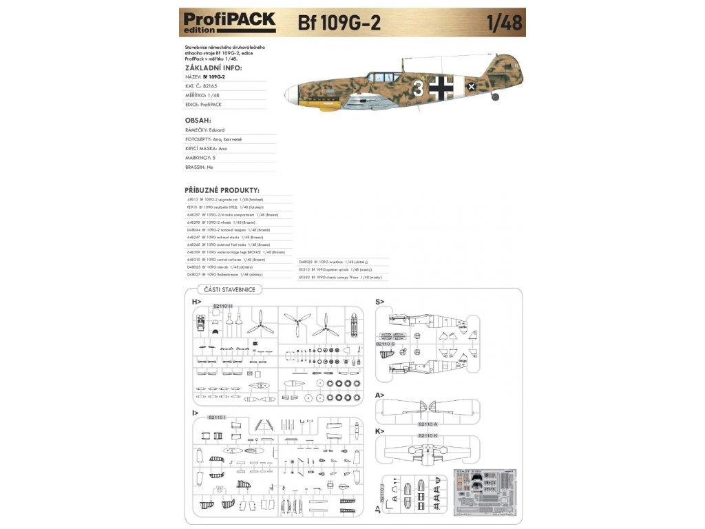 82165 Bf 109G 2 1 48 ProfiPACK