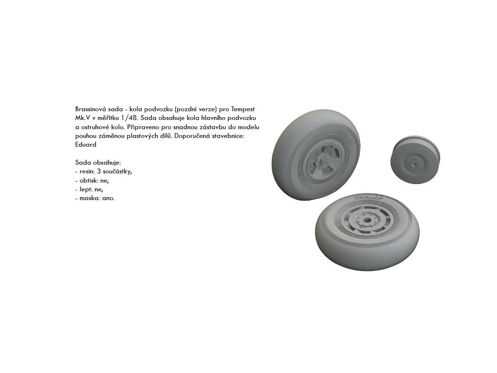 EDU648421 Tempest Mk.V wheels late 1 48 Eduard