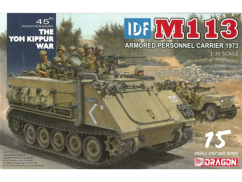 Model Kit military 3608 - IDF M113 Armored Personnel Carrier Yom Kippur War 1973 (1:35)
