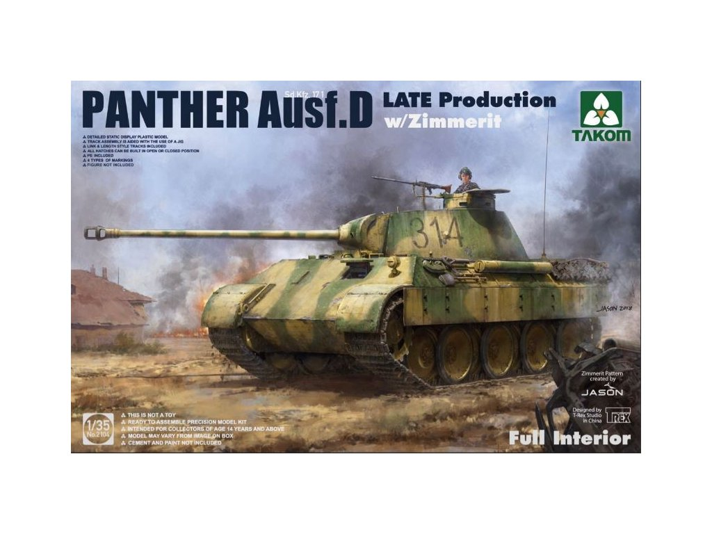 2104 Panther Ausf. D Late with Zimmerit