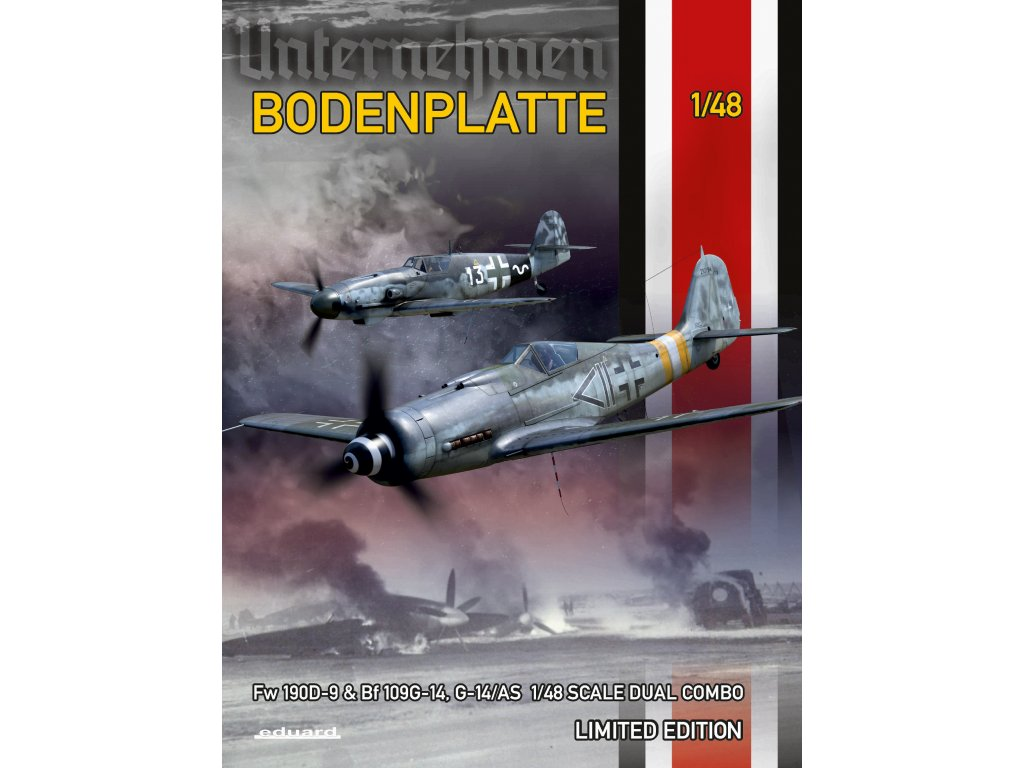 11125 Bodenplatte Fw 190D 9 a Bf 109G 14(G 14AS) Dual combo Limited edition