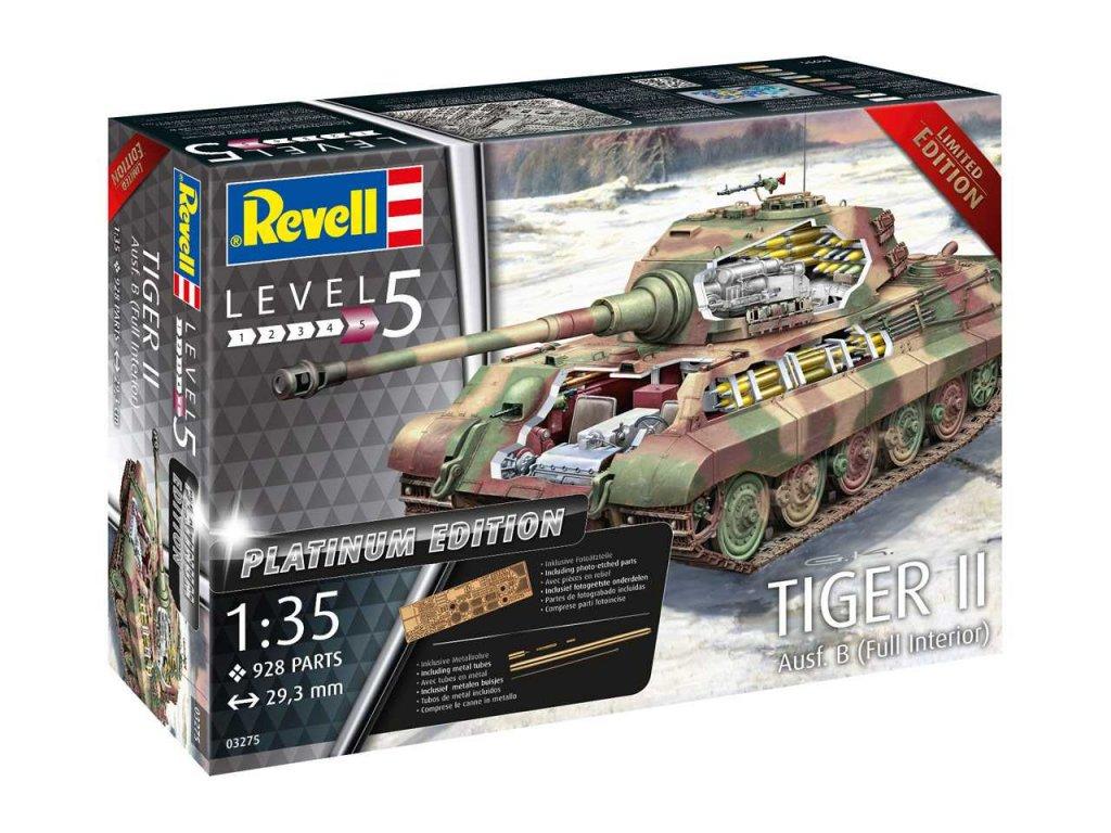Plastic ModelKit tank Limited Edition 03275 - TIGER II Ausf. B - Full Interior (Platinum Edition)  (1:35)