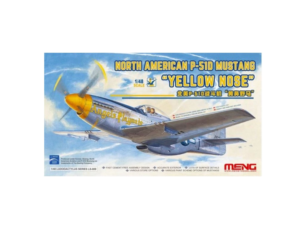LS 009 MENG P 51D Mustang Yellow Nose