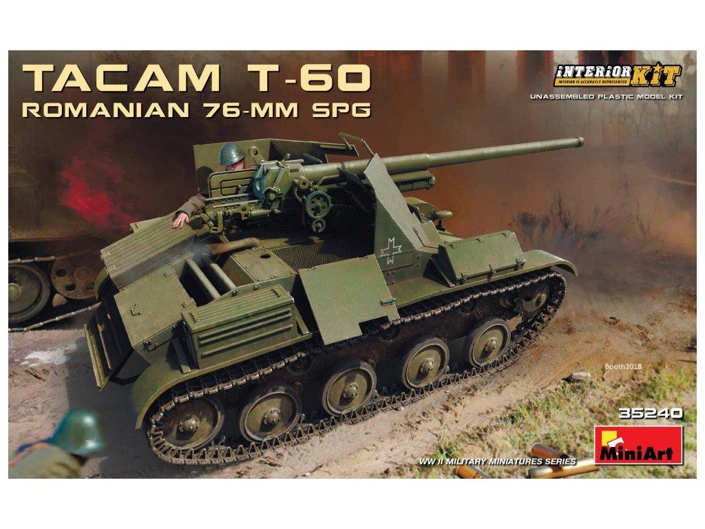 MINA35240 Tacam T 60 Romanian 76 mm SPG w Interior