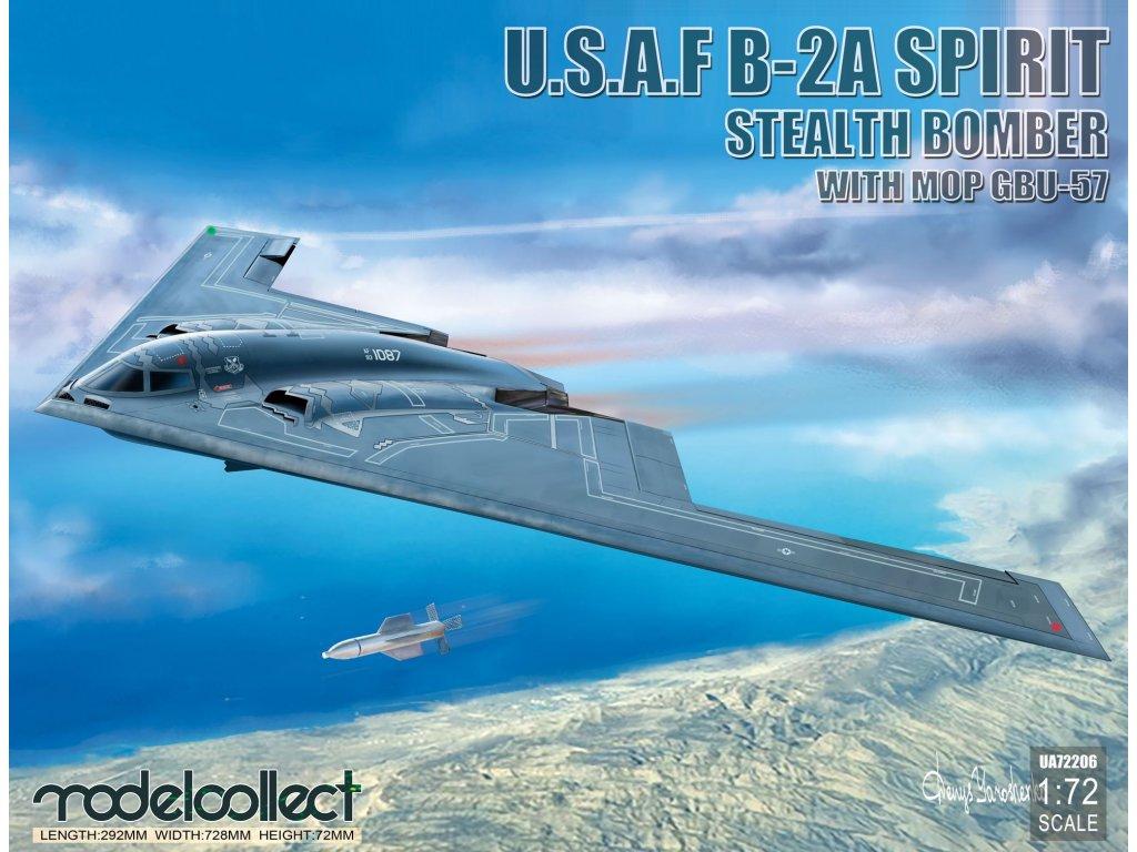 UA72206 usaf b 2a spirit stealth bomber with mop gbu 57