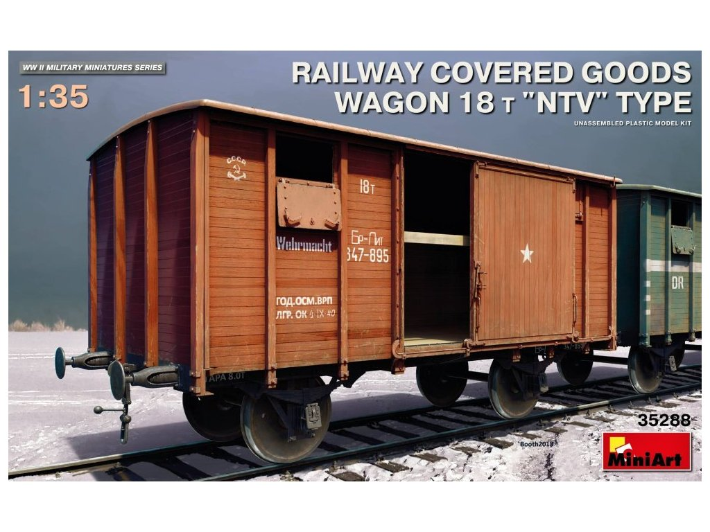 MINA35288 Railway Covered Goods Wagon 18T NTV Type